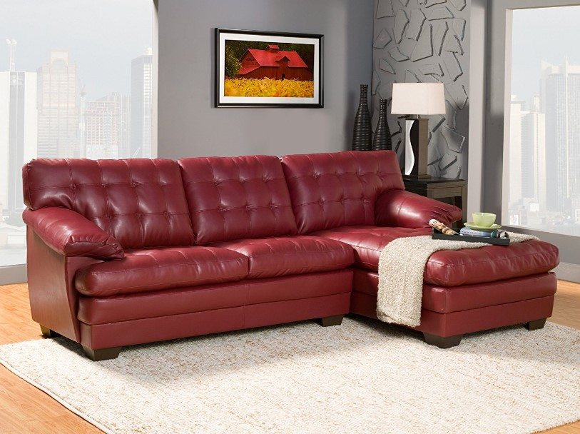⭐️ 7 Best Red Leather Sofa Reviews in 2017 ⋆ Best Cheap ...