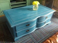 Blue Painted Coffee Table | Coffee Table Design Ideas