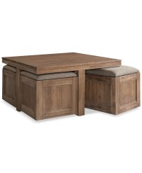 Coffee Table With Seating Cubes   Coffee Table Design Ideas