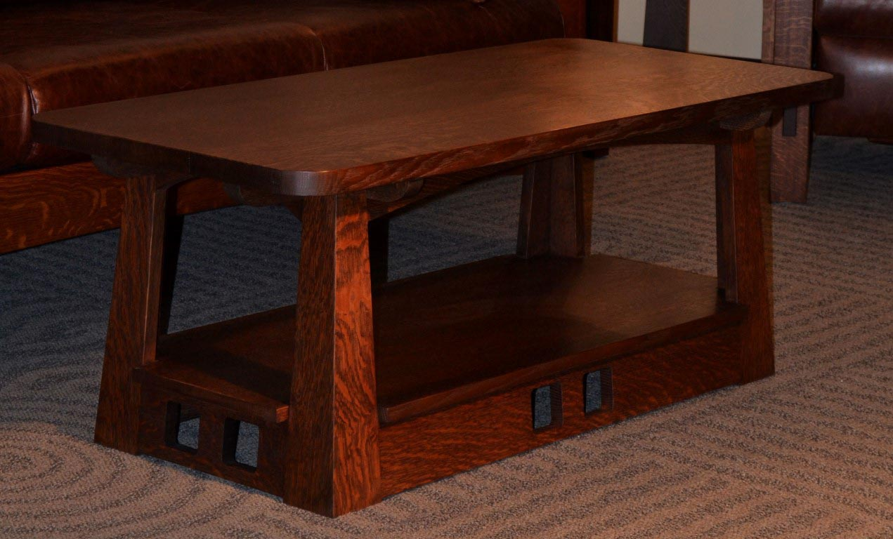 Get Comfort with a Mission Style Coffee Table