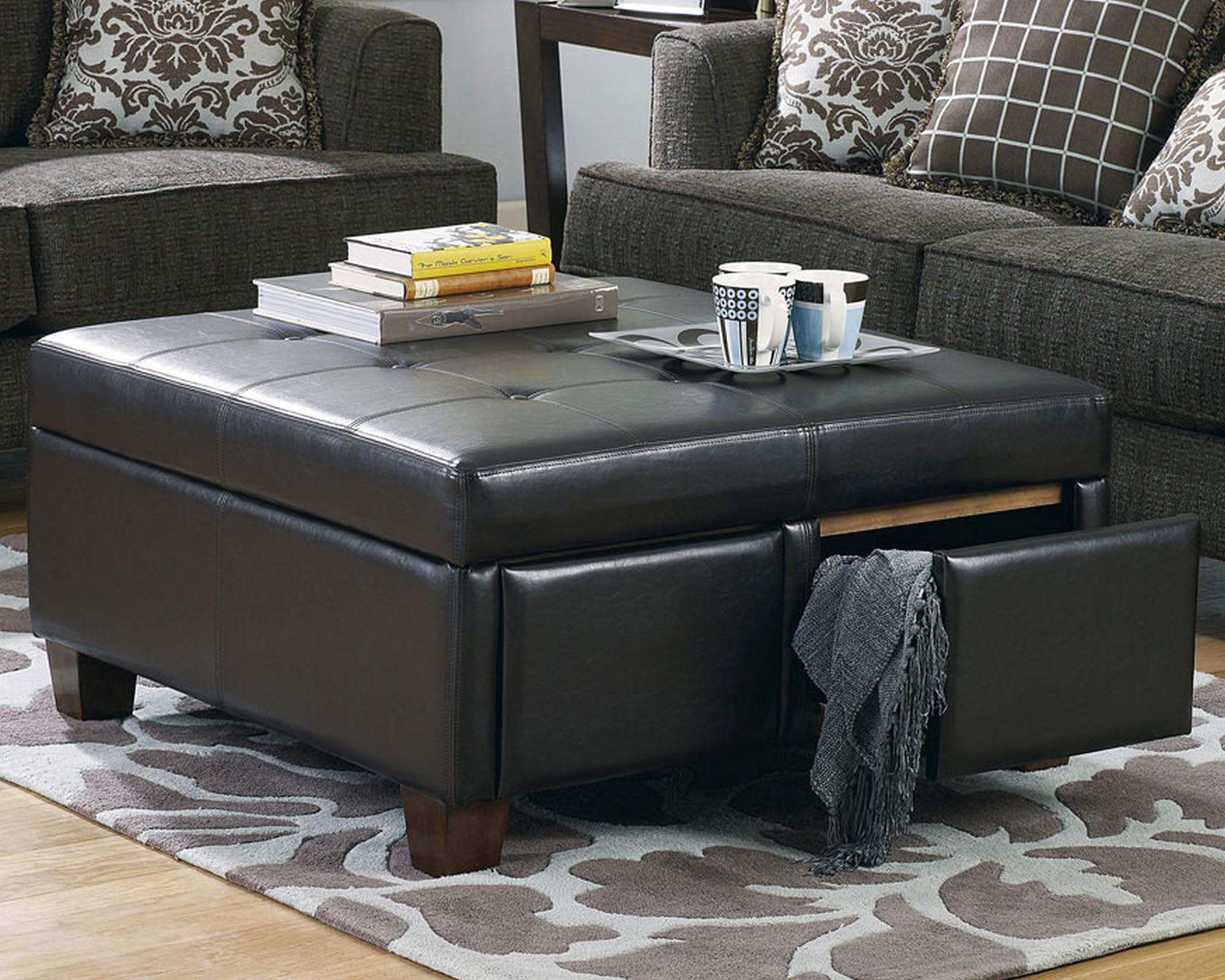 Ottoman Coffee Table Black Black Leather Ottoman Coffee Table Coffee Table Design Ideas