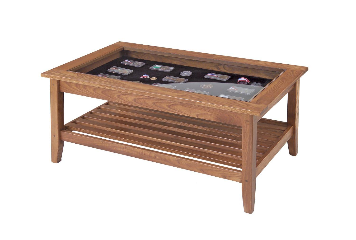 Coffee Table Display Case Glass Top