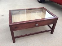 Glass Top Display Case Coffee Table
