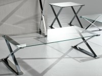 Glass And Stainless Steel Coffee Table | Coffee Table ...