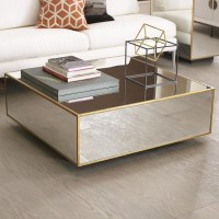 Gold Mirrored Coffee Table | Coffee Table Design Ideas