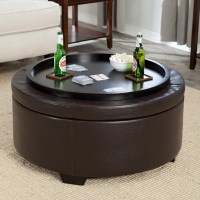 Leather Storage Ottoman Coffee Table | Coffee Table Design ...