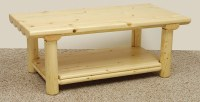 Introduce a Country Style with a Log Coffee Table | Coffee ...