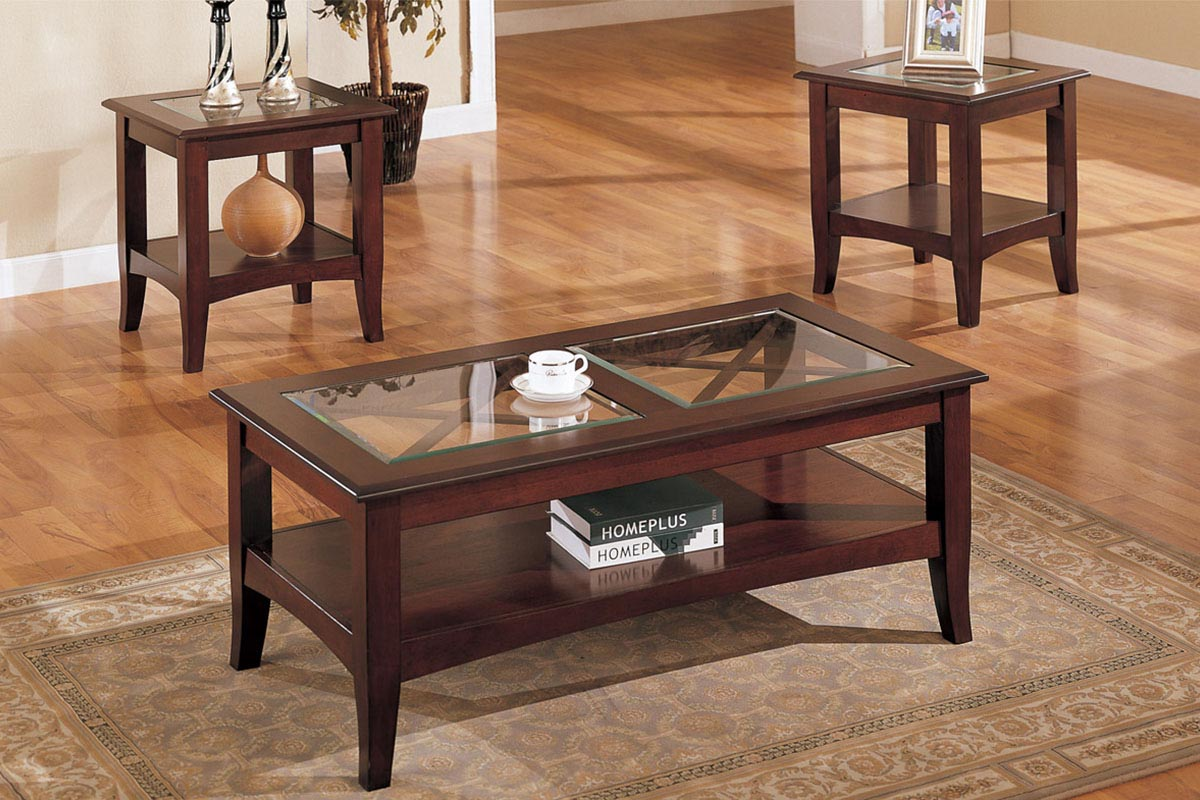 Wooden Coffee Table With Glass Top Mahogany Coffee Table With Glass Top Coffee Table Design