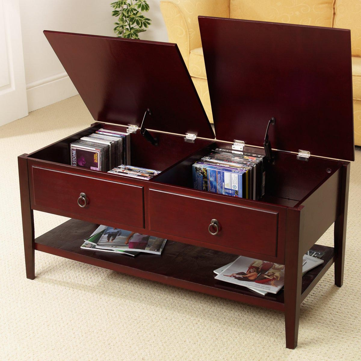 Coffee And End Tables With Storage Mahogany Coffee Tables With Storage Coffee Table Design