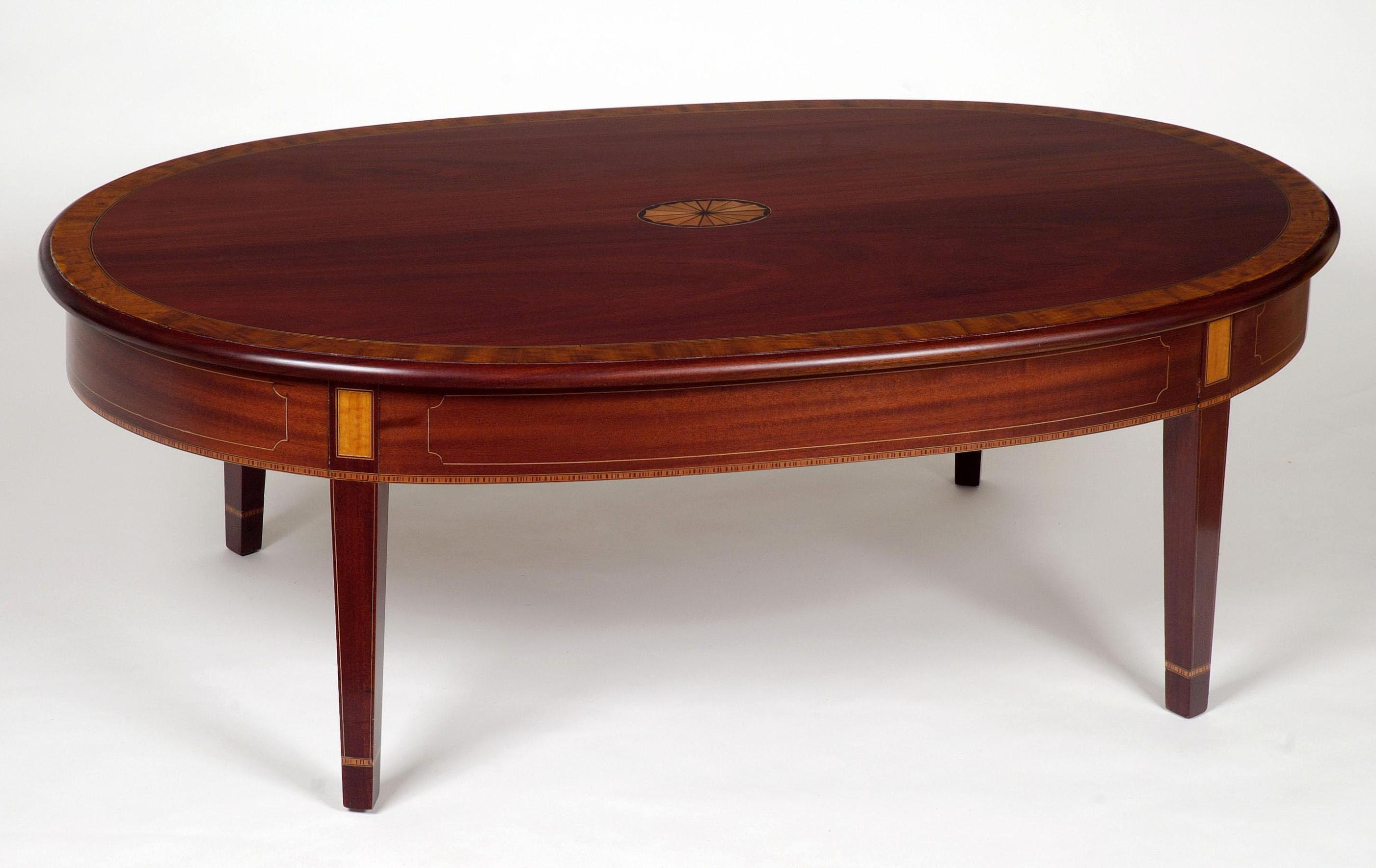 Table Ovale Design Oval Mahogany Coffee Table Coffee Table Design Ideas
