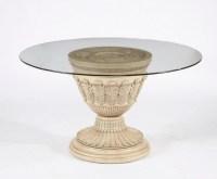 Round Glass Pedestal Coffee Table   Coffee Table Design Ideas
