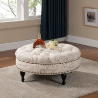 Round Ottoman Coffee Table | Coffee Table Design Ideas