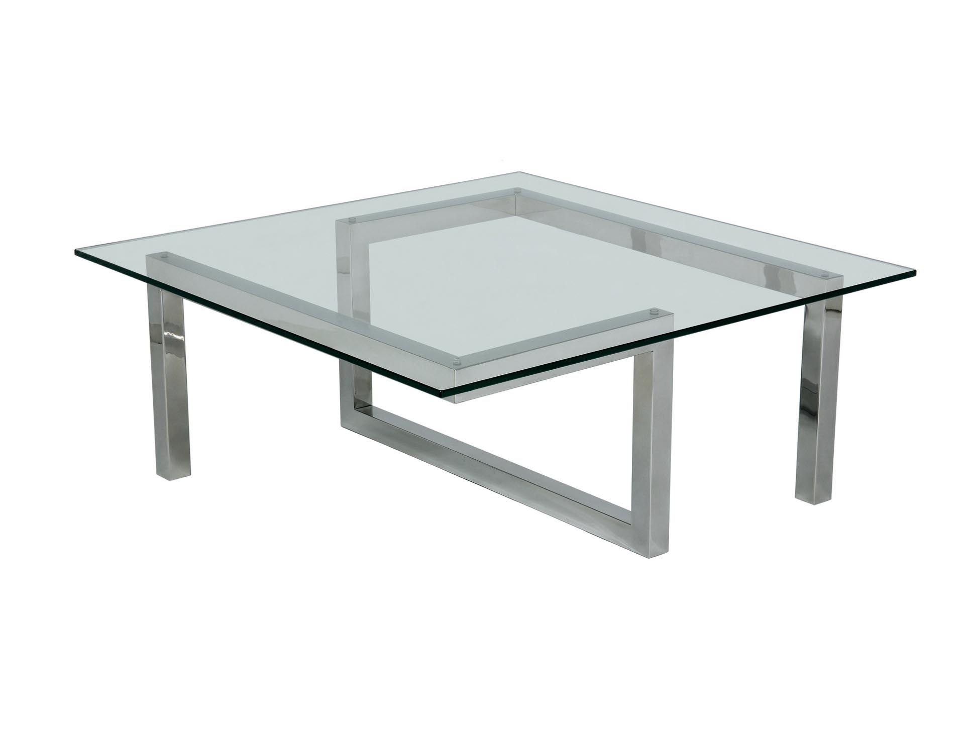 Glass And Steel Coffee Tables Stainless Steel And Glass Coffee Tables Coffee Table