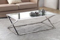 Stainless Steel Coffee Table With Glass Top | Coffee Table ...