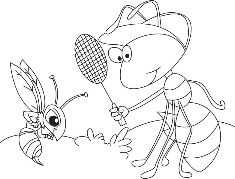 Anthill Coloring Page