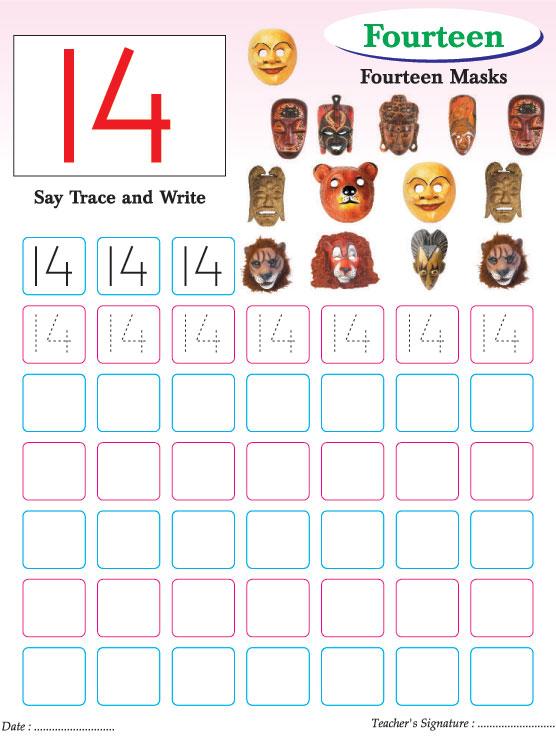 Numbers writing practice worksheet-14 Download Free Numbers