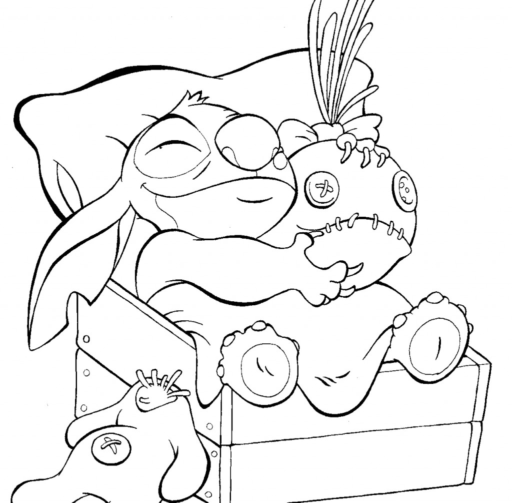 Free Printable Lilo And Stitch Coloring Pages For Kids - Stitch Halloween Coloring Page