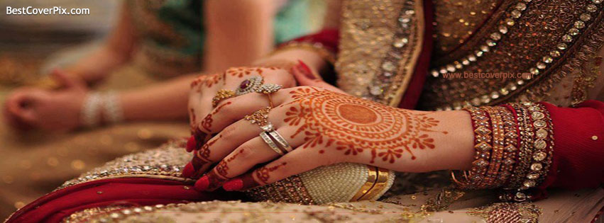 Cute Punjabi Married Couple Wallpaper Beautiful Bride Hands Wedding Profile Cover Photos For