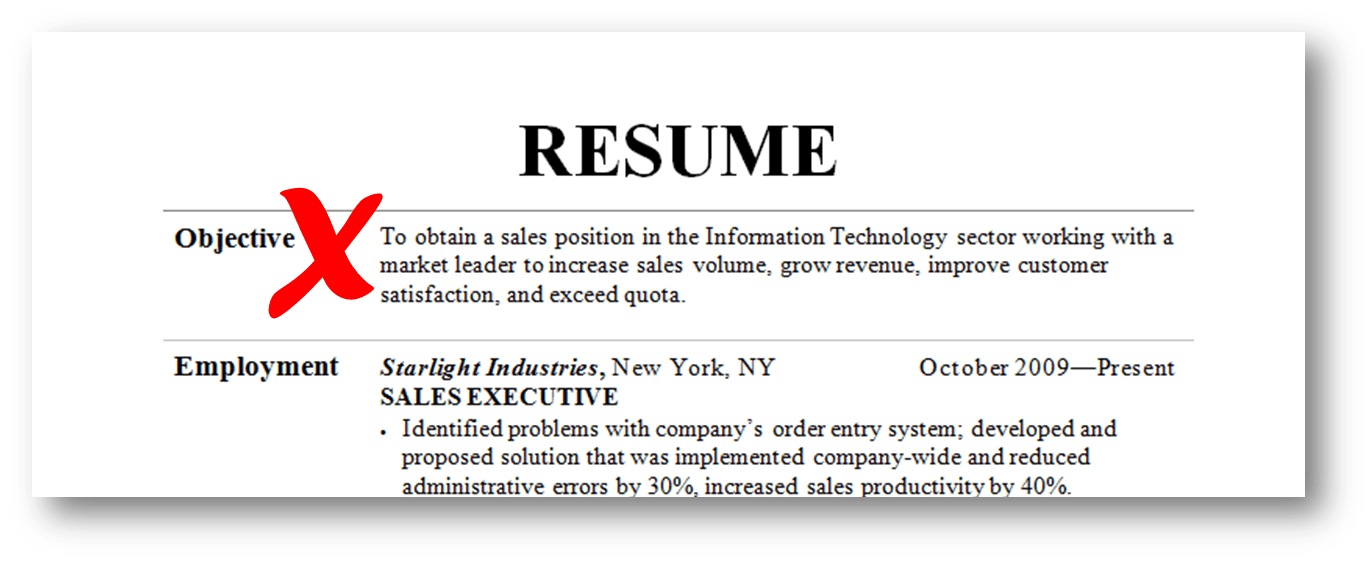 resume objective grow with the company