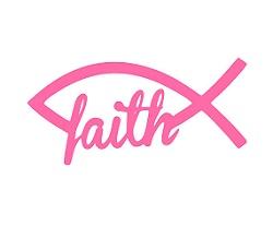 faith fish decal