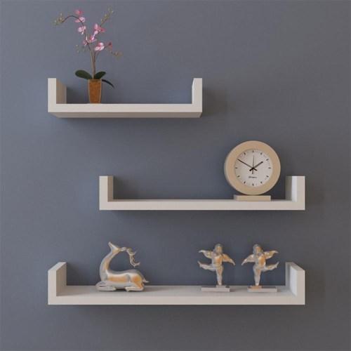 Medium Of Hanging Shelves Wall