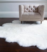 White Fuzzy Bedroom Rug | Best Decor Things