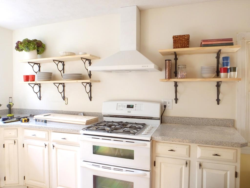 Kitchen Decorative Shelf Keep Everything At Hand With Kitchen Wall Shelves Best