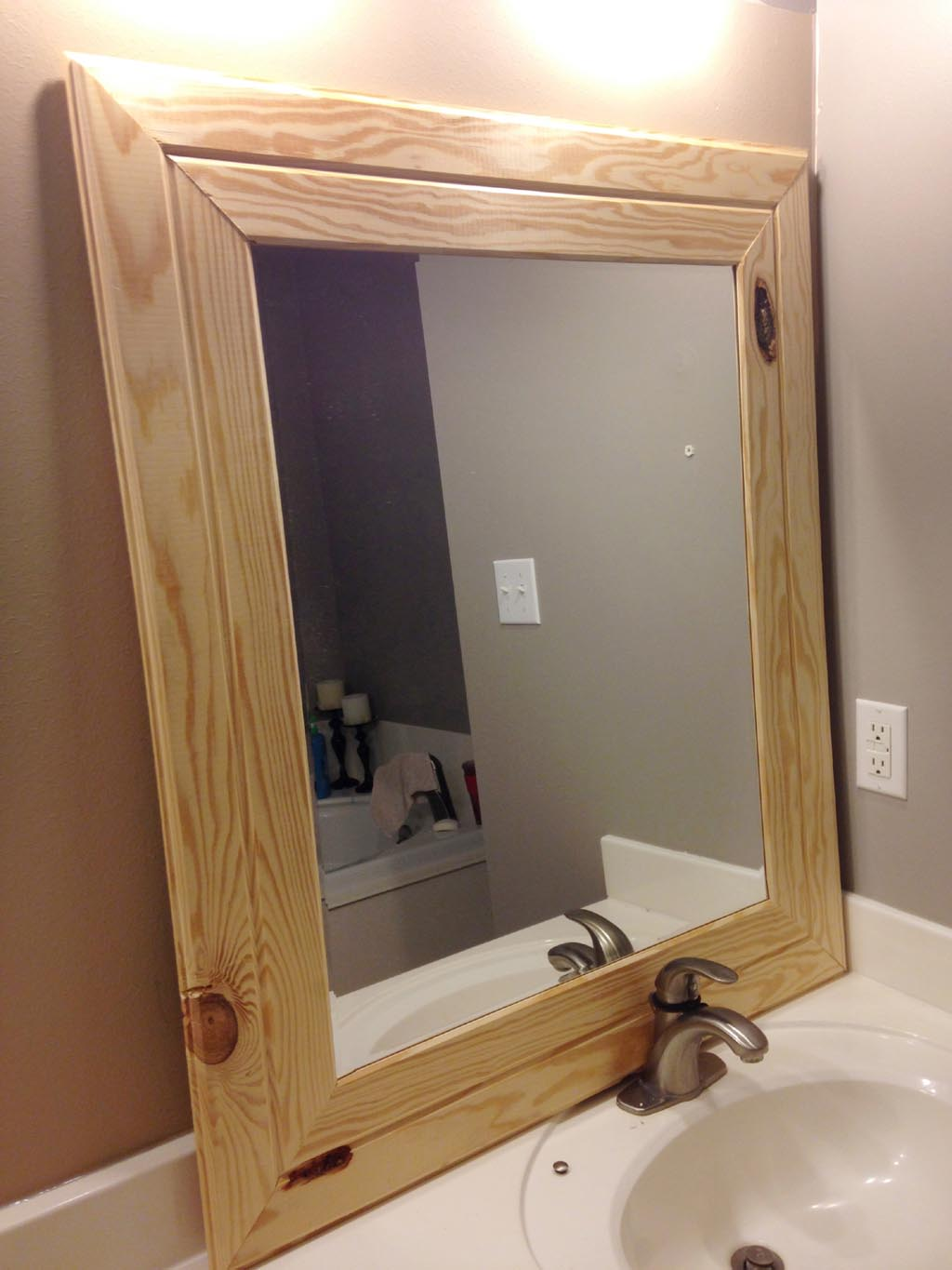 Wood Frame Mirror For Bathroom Cheap Wood Framed Mirrors Best Decor Things