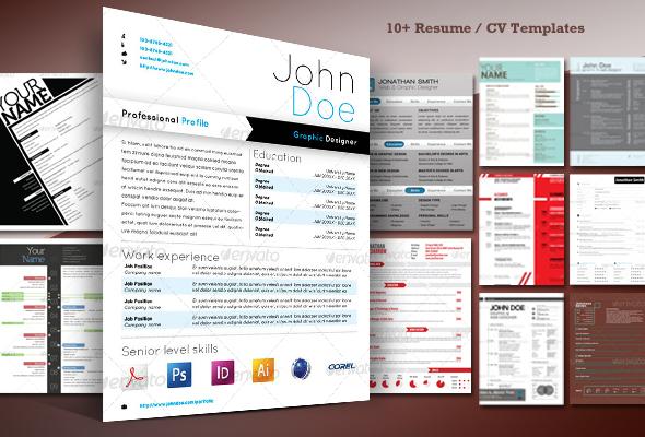 10+ Stylish Resume / CV Templates - Best Designers