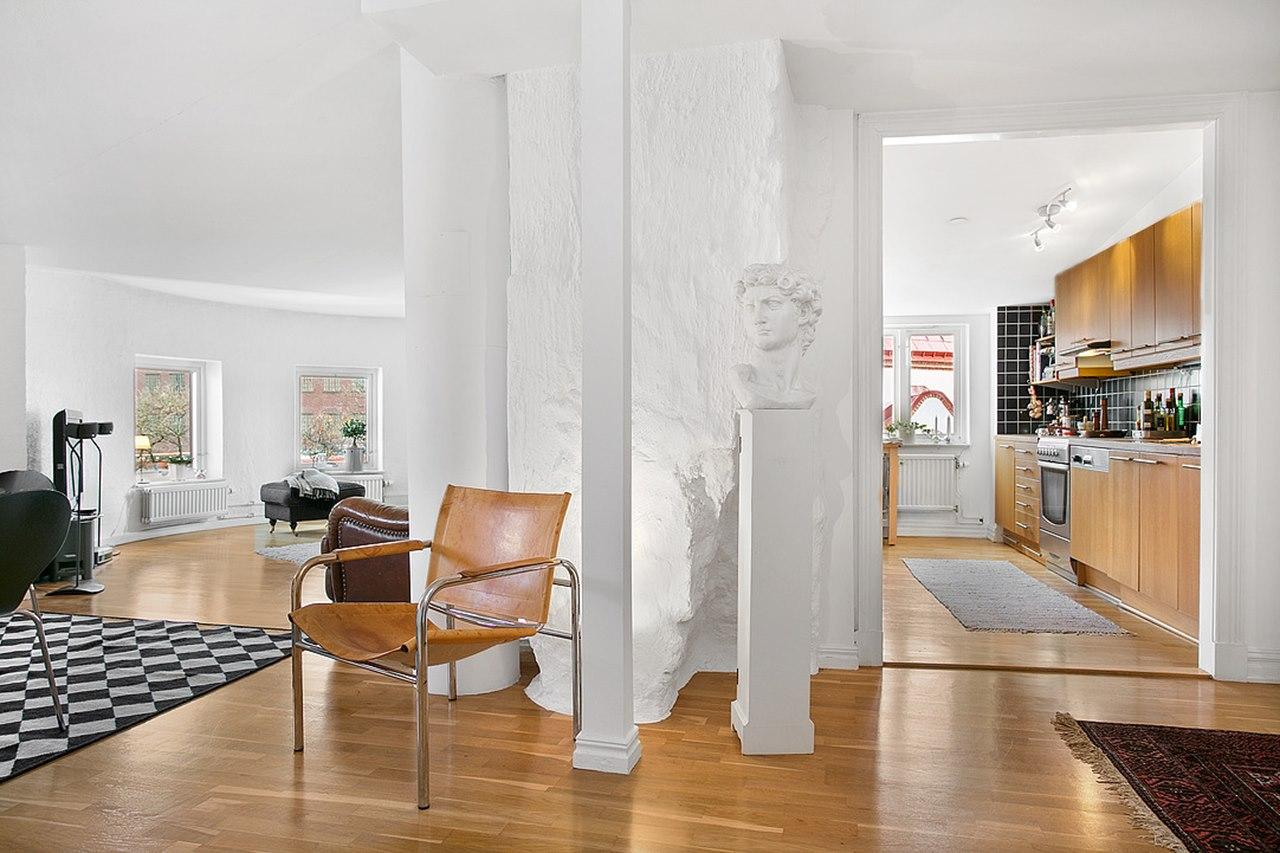 scandinavian style interior design kitchen living room small open plan kitchen living room design ideas