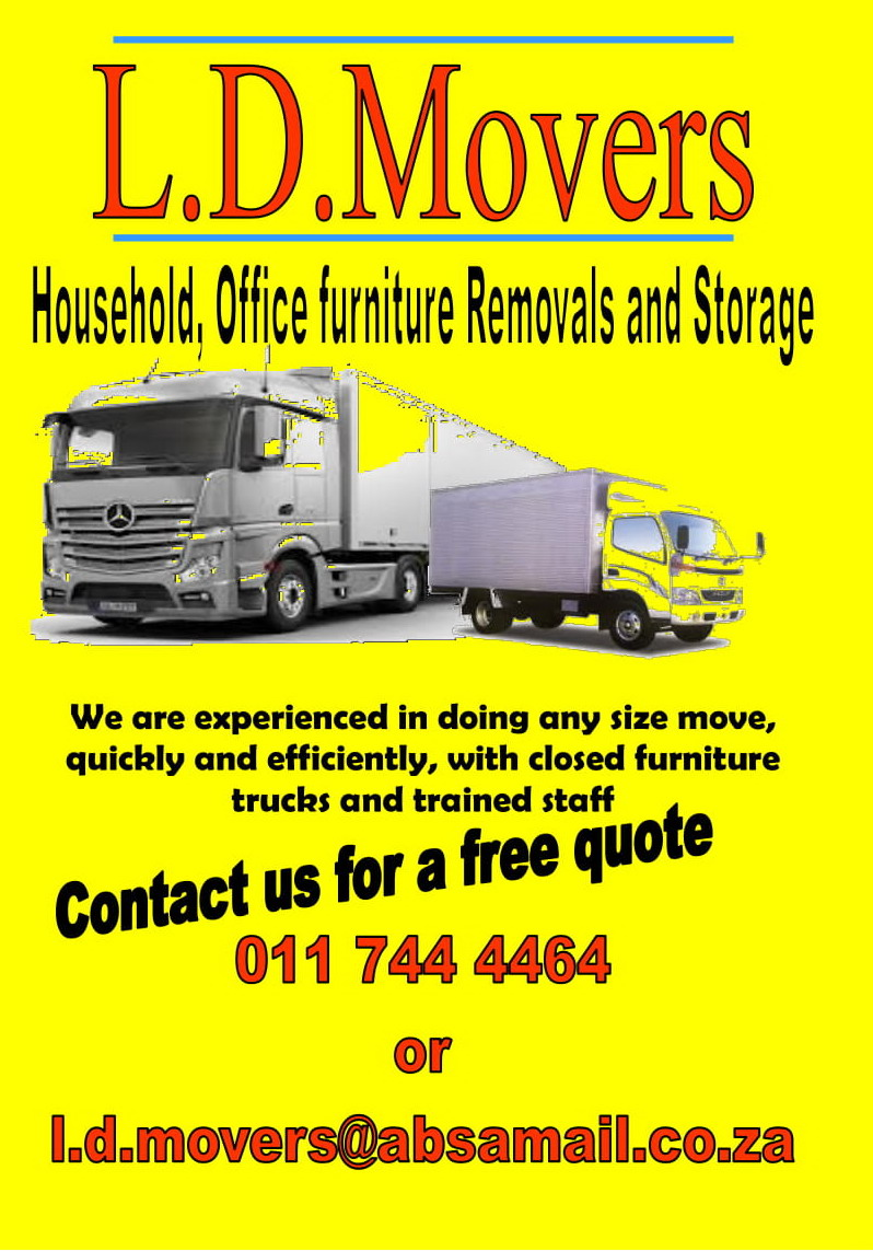 L D Movers Storage Moving Moving And Relocating Home House In Brakpan Gauteng L D Movers The Best Free Online Business Directory South Africa
