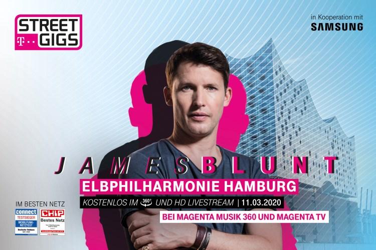 James Blunt Telekom Street Gigs Elbphilharmonie Hamburg MagentaMusik 360 Livestream