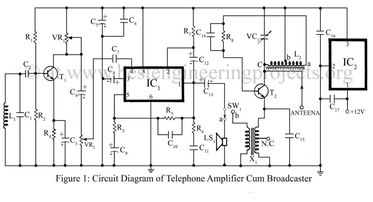 basic telephone circuit diagram