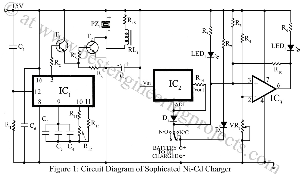batteries charger circuit diagram