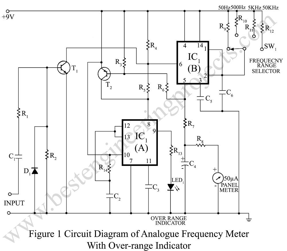 circuit diagram of 100 rung exclusive counter