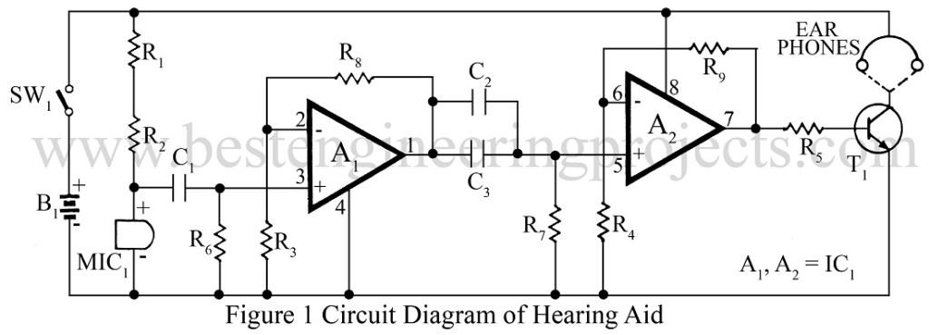 circuit diagram of hearing aid