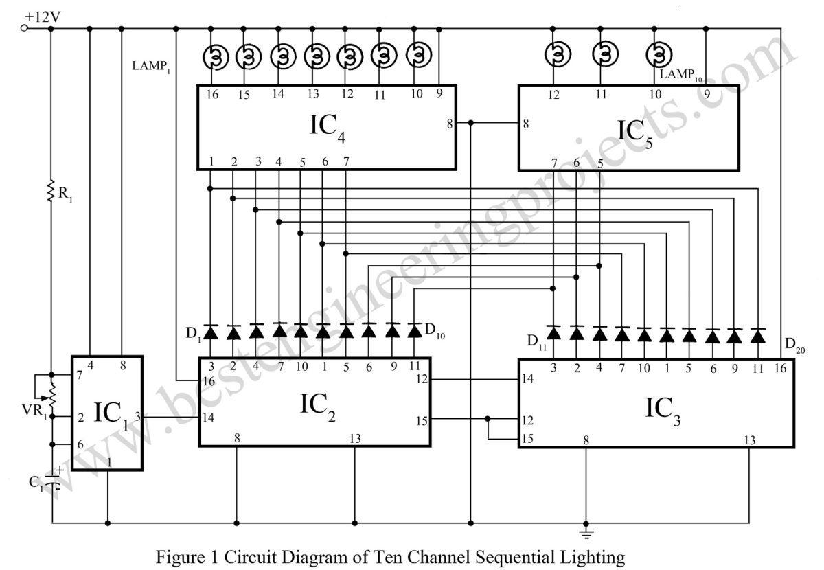 automatic door lamp timer circuit electronic circuit projects