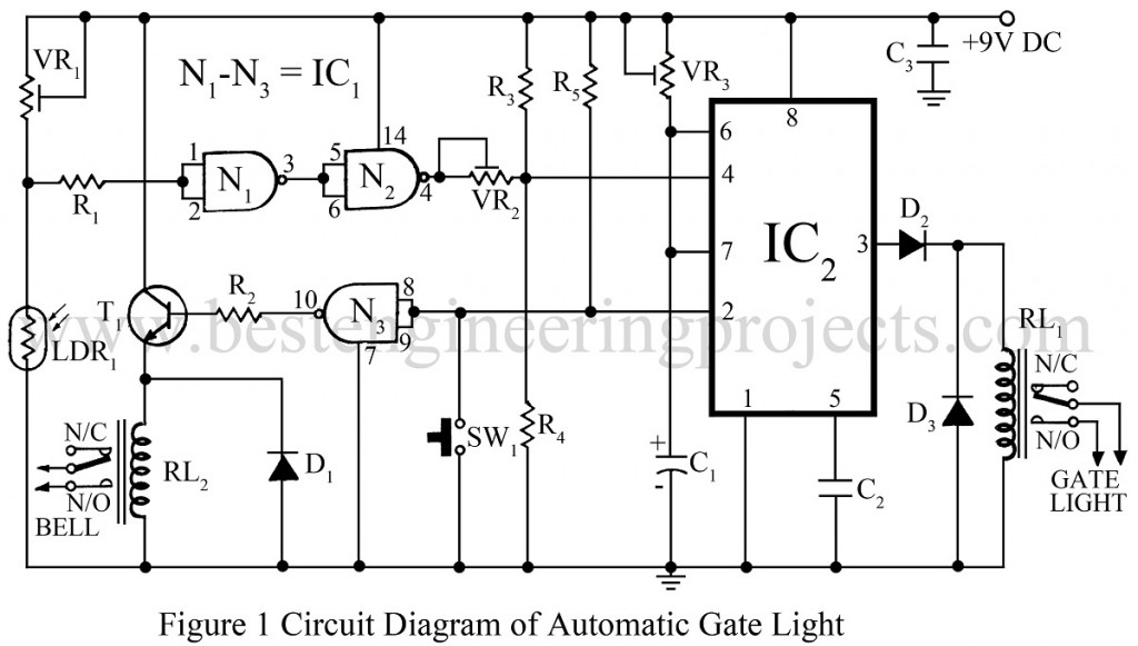simple circuit diagram of not gate