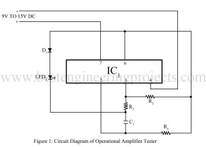 circuit diagram of operation amplifier tester