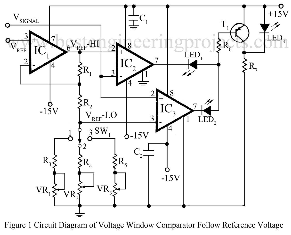 how to use opamp ic 741 as a comparator electronic circuit projects