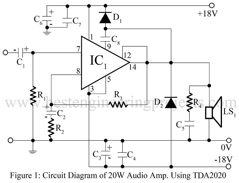 Amplifier Circuit Diagram Power amplifier Voltage Amplifier
