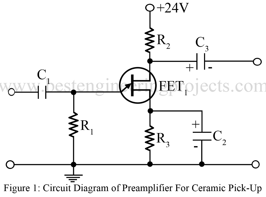 preamplifier for ceramic pick up