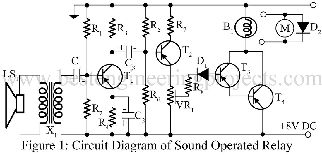 sound controlled relay circuit diagram