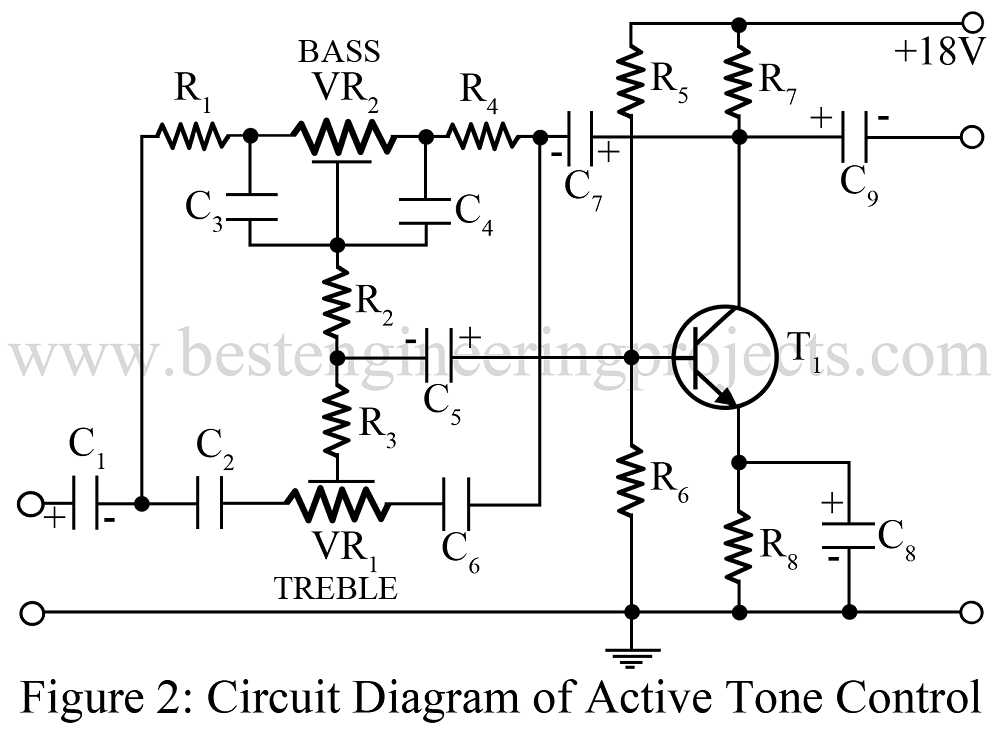 active tone controls by transistor