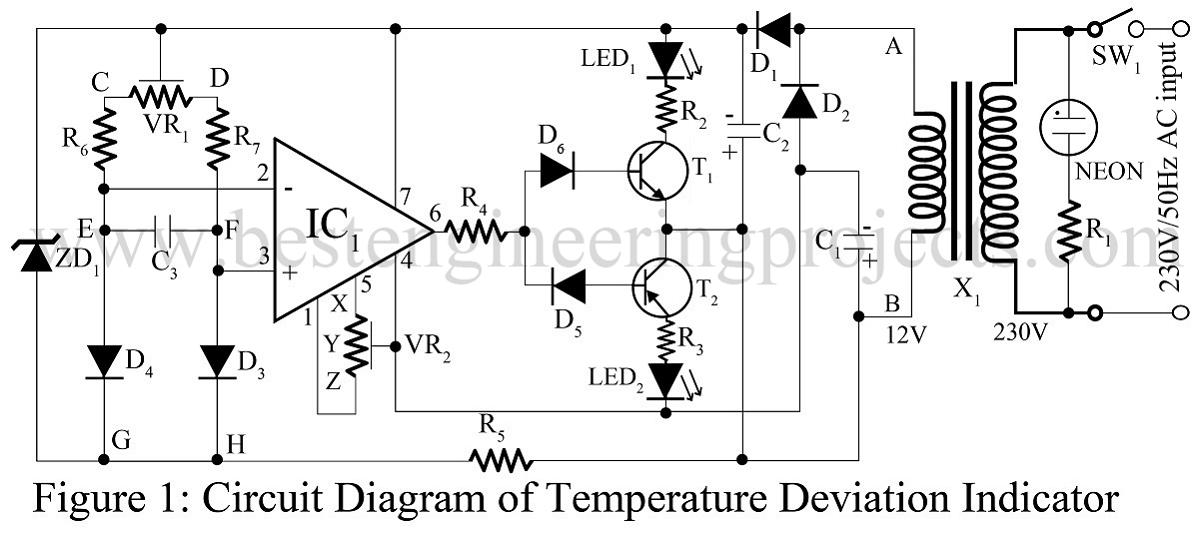 arduino based digital thermometer circuit diagram