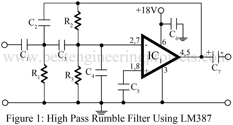 high pass filter circuit rumble filter