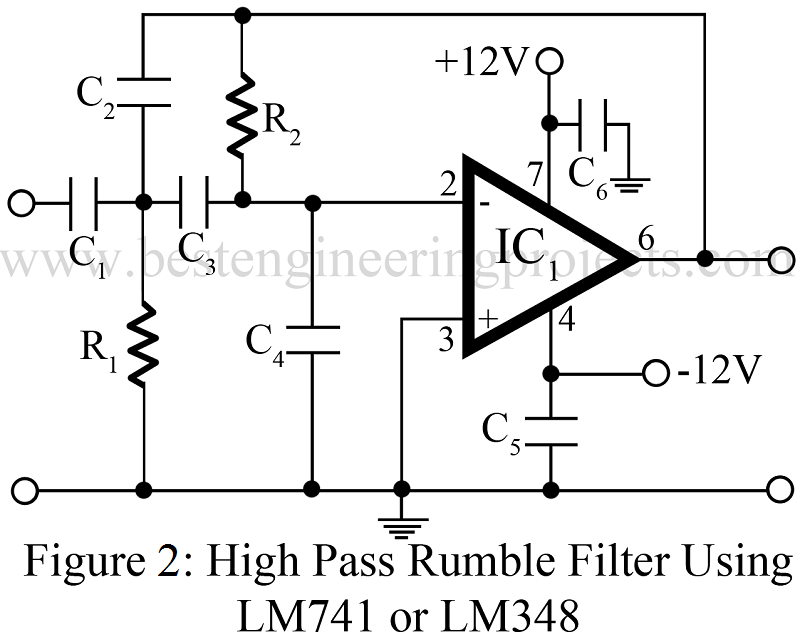 passive filter circuits the high pass filter
