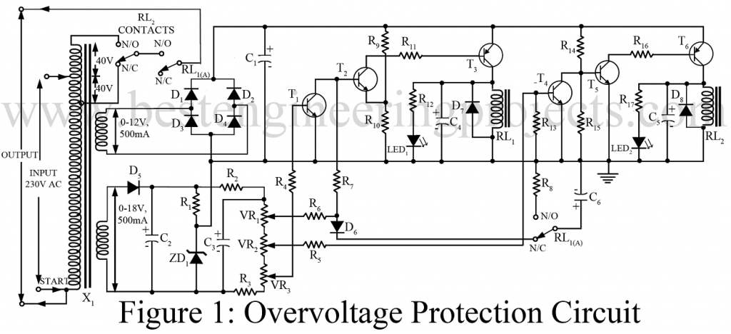 description of overvoltage protection circuit