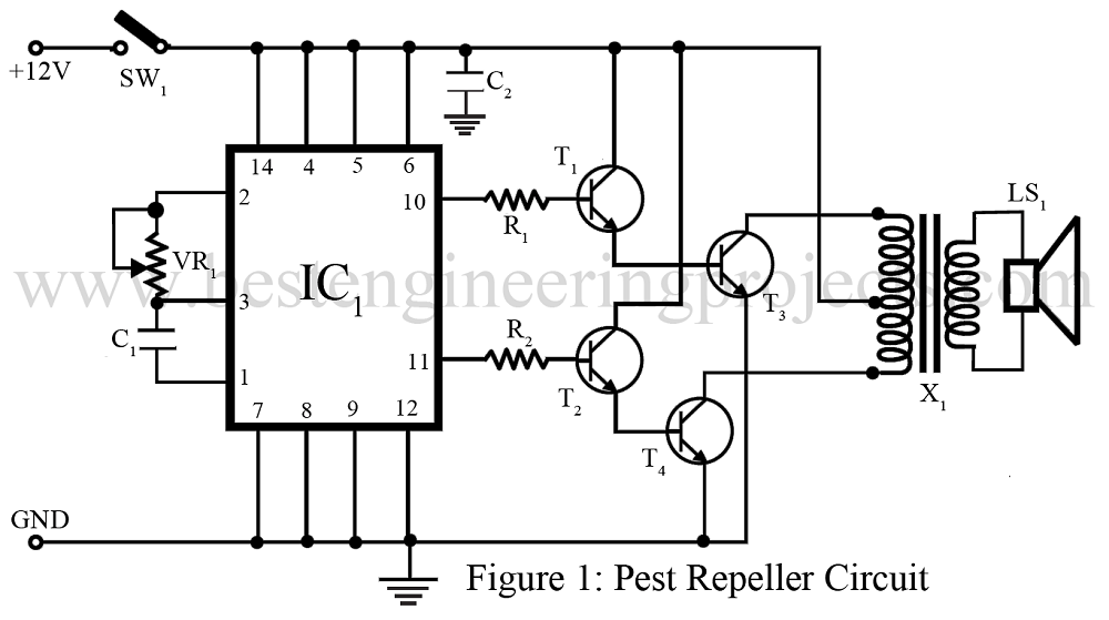 rodent repeller circuit electricalequipmentcircuit circuit