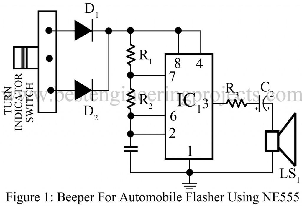 555 turn signal flasher circuit